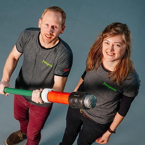 Sophia Haufe & Klaus Wissemborski - Projektleiter Jumpers Erfurt