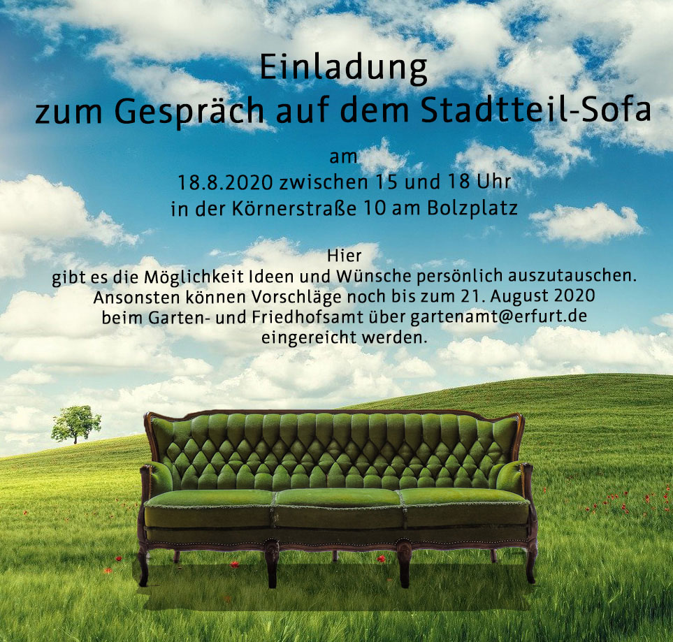 Einladung zum Gespräch auf dem Stadtteil-Sofa