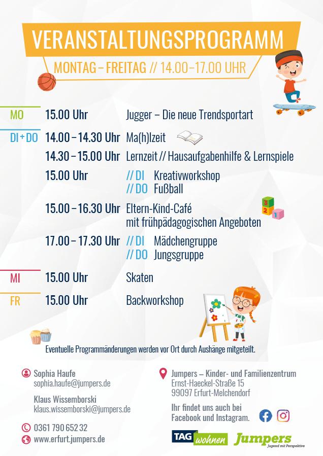 Jumpers Erfurt - Veranstaltungsprogramm - Herbst 2020