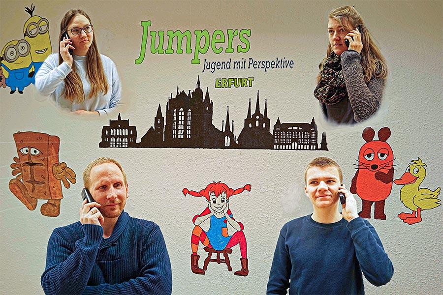 Das Jumpers-Team ist für Euch da - am Telefon!