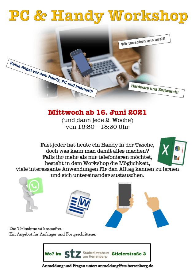 STZ Herrenberg - PC & Handy Workshop ab Juni 2021