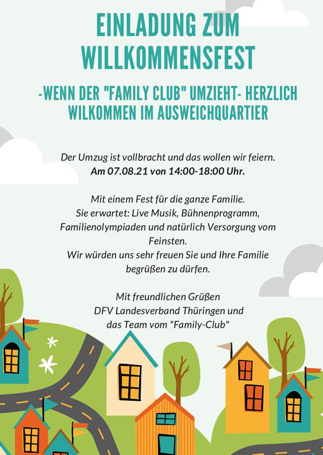Willkommensfest des Family Club Erfurt nach Umzug am 07.08.2021
