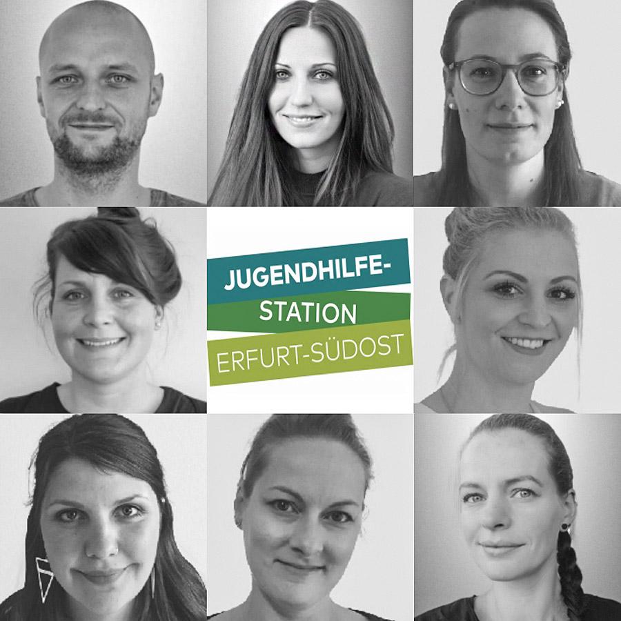 Das Team der Jugendhilfestation Erfurt-Südost