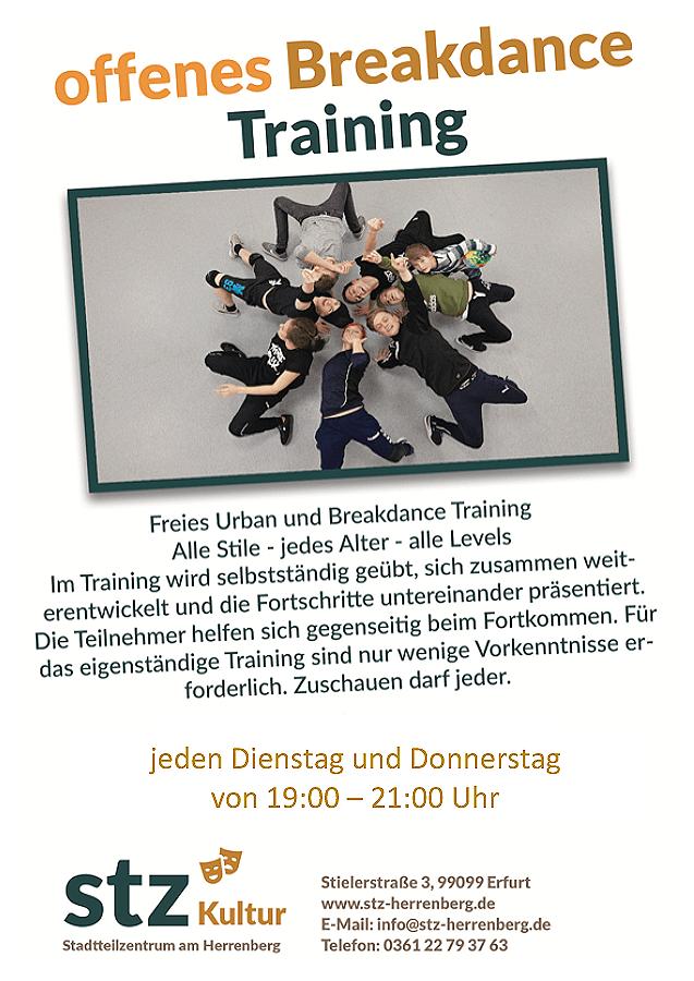 STZ - Angebote im Juli 2021 - Breakdance Training