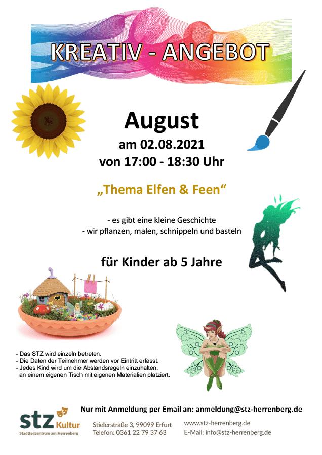 STZ am Herrenberg - Kreativangebot am 02. August 2021