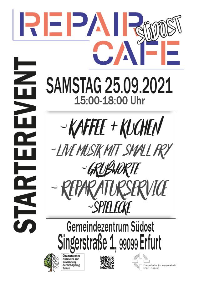25.09.2021 - Eröffnung Repair Café Südost - Erfurt Gemeindezentrum Südost