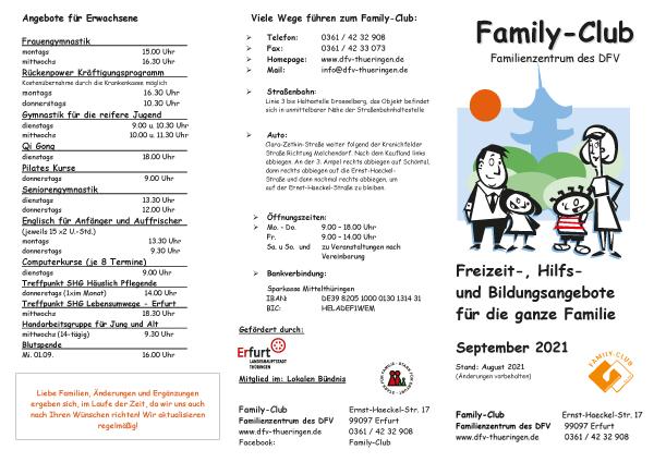 Family-Club - Monatsprogramm September 2021