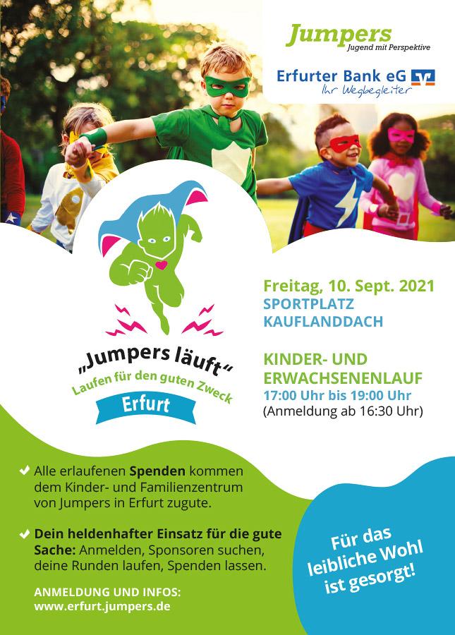 Jumpers Erfurt - Heldenlauf 2021 - Laufen für den guten Zweck